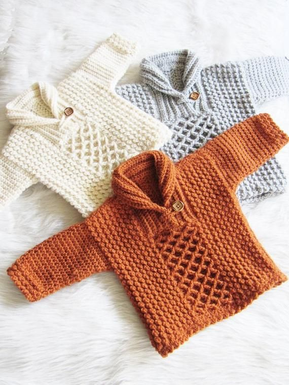 9a68a443f73 Crochet Sweater Pattern for Baby and Toddler