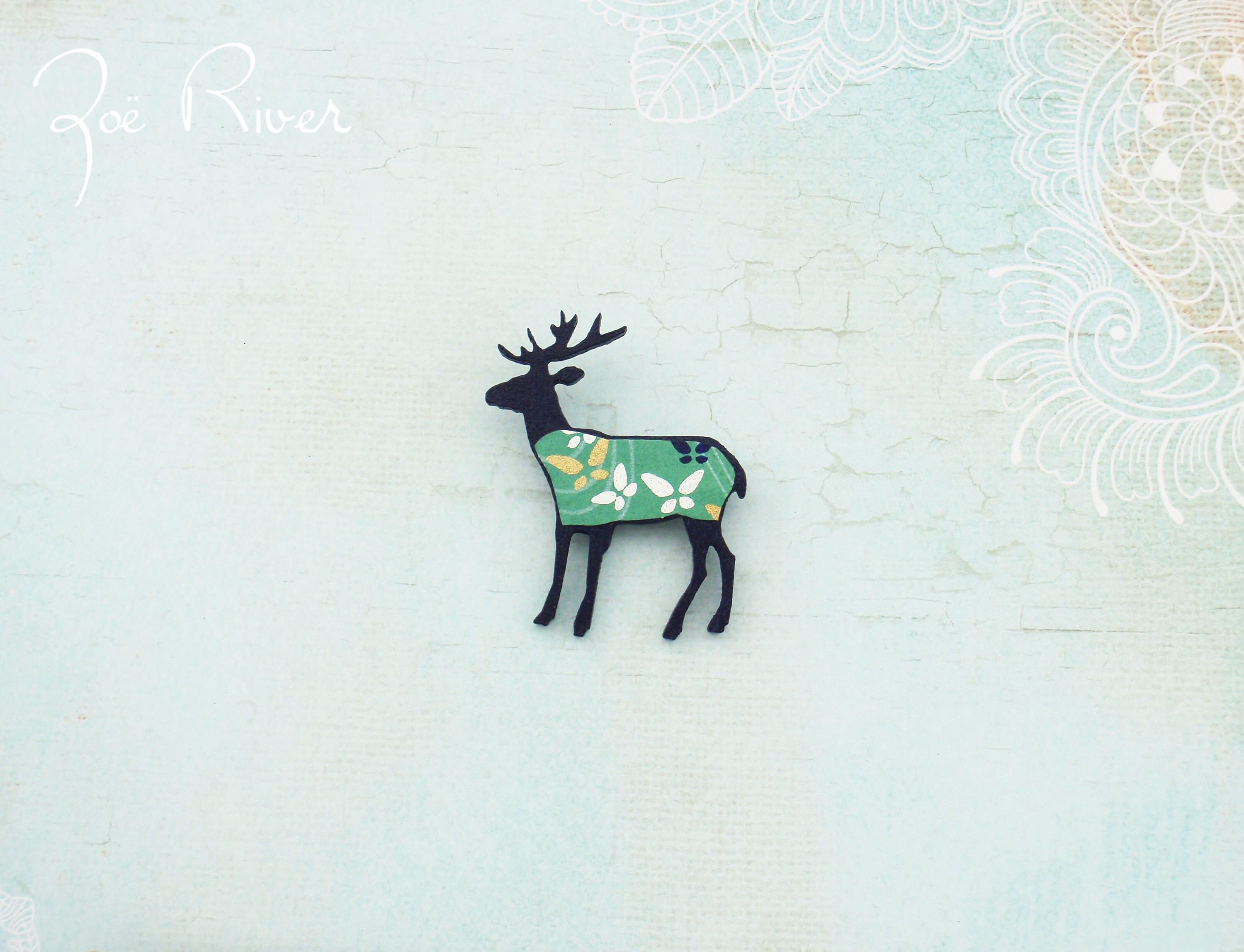 brooch com qvc reindeer rivers crystal deer page product joan