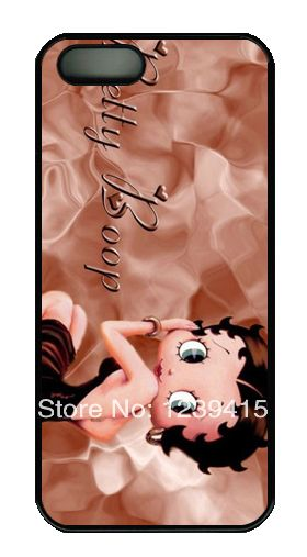Endearing Girl Betty Boop Picture Sign Hard Case Cover for iphone 5/iphone 5S(China (Mainland))