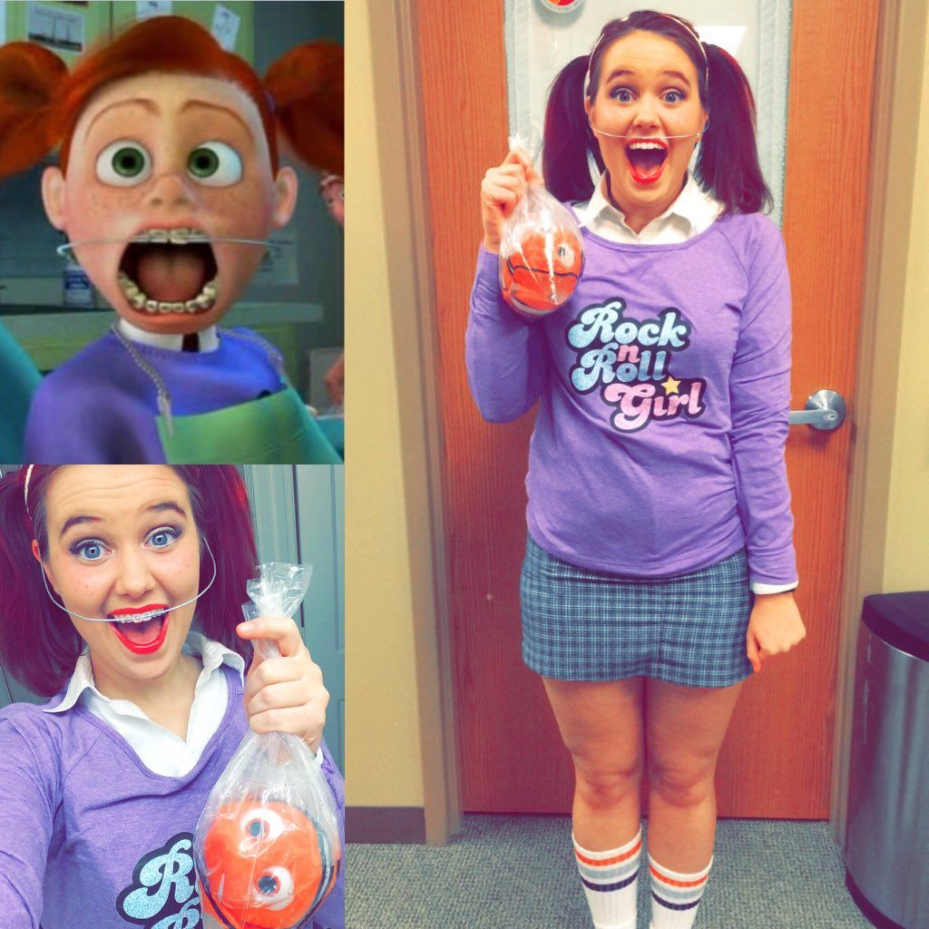 DIY Darla Halloween Costume - Finding Nemo  sc 1 st  Pinterest & DIY Darla Halloween Costume - Finding Nemo | Memes | Pinterest
