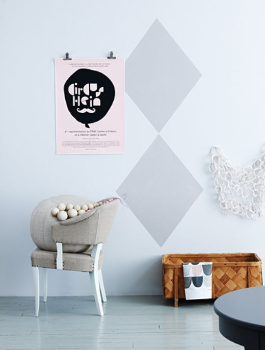 simple shapes on the wall!