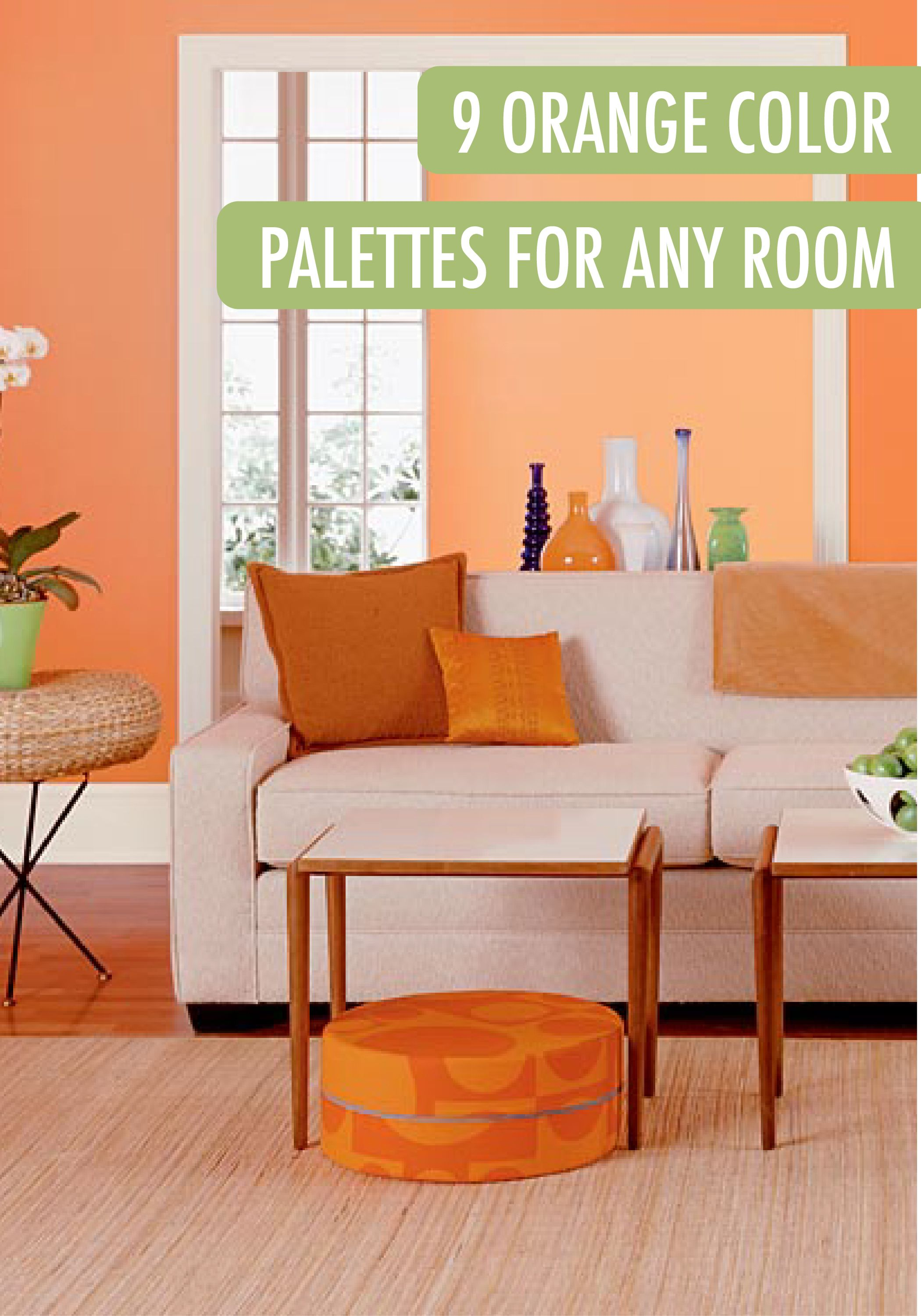 Tangerine Paint Color Style At Home Meredith Miller's Bright Abode  Bedrooms Room And