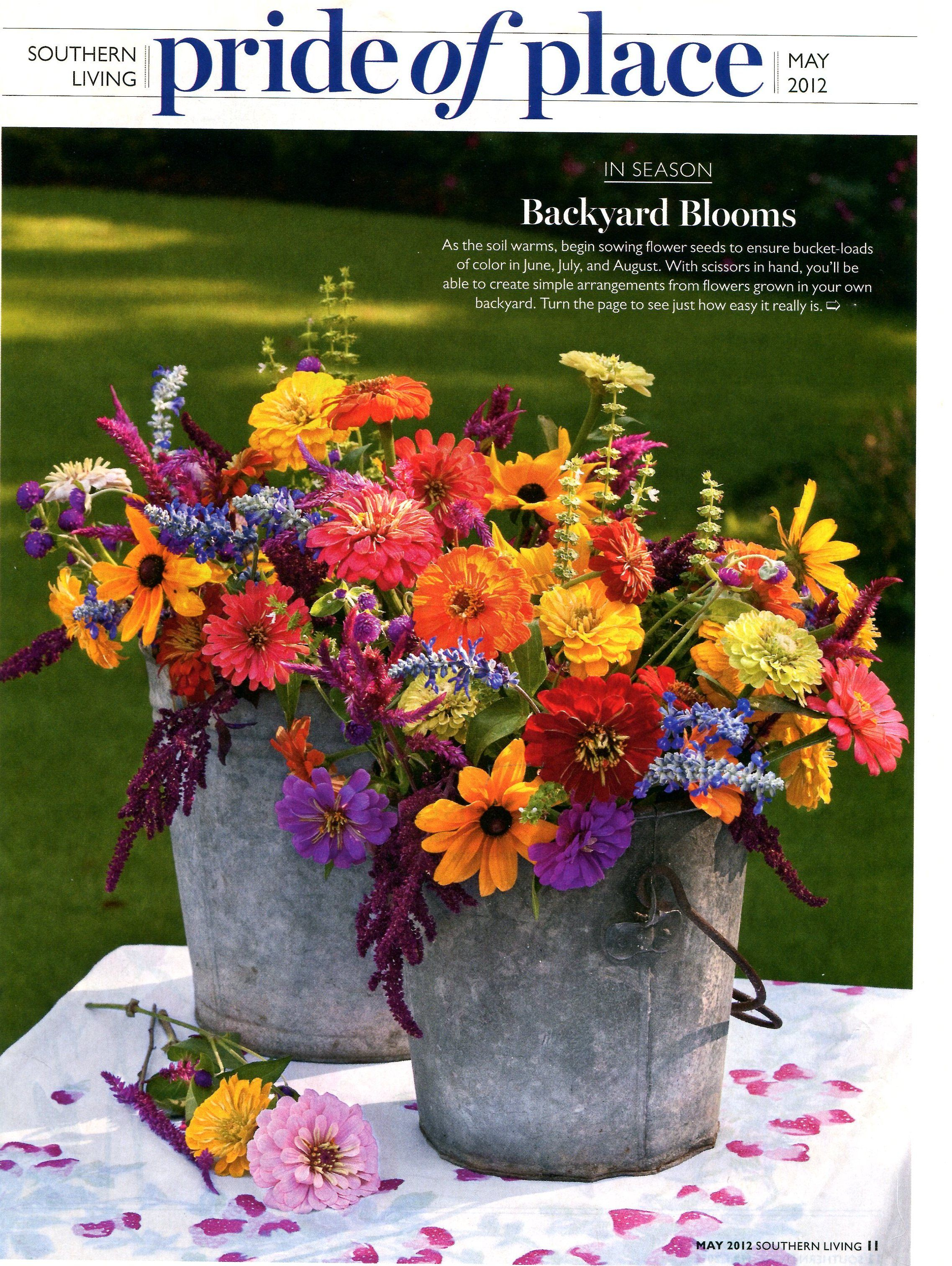 Southern living wildflower cutting garden flower for Garden arrangement ideas