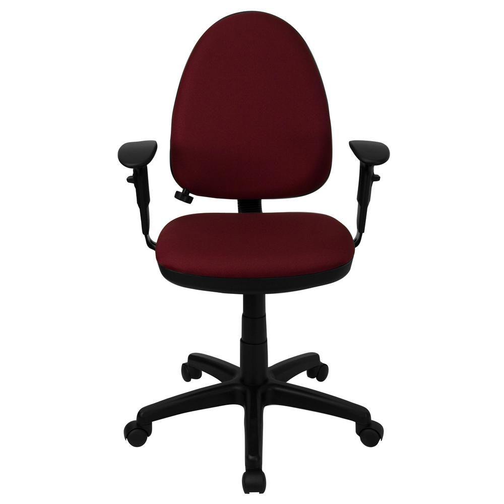 Flash Furniture Mid-Back Burgundy Fabric Multi-Functional