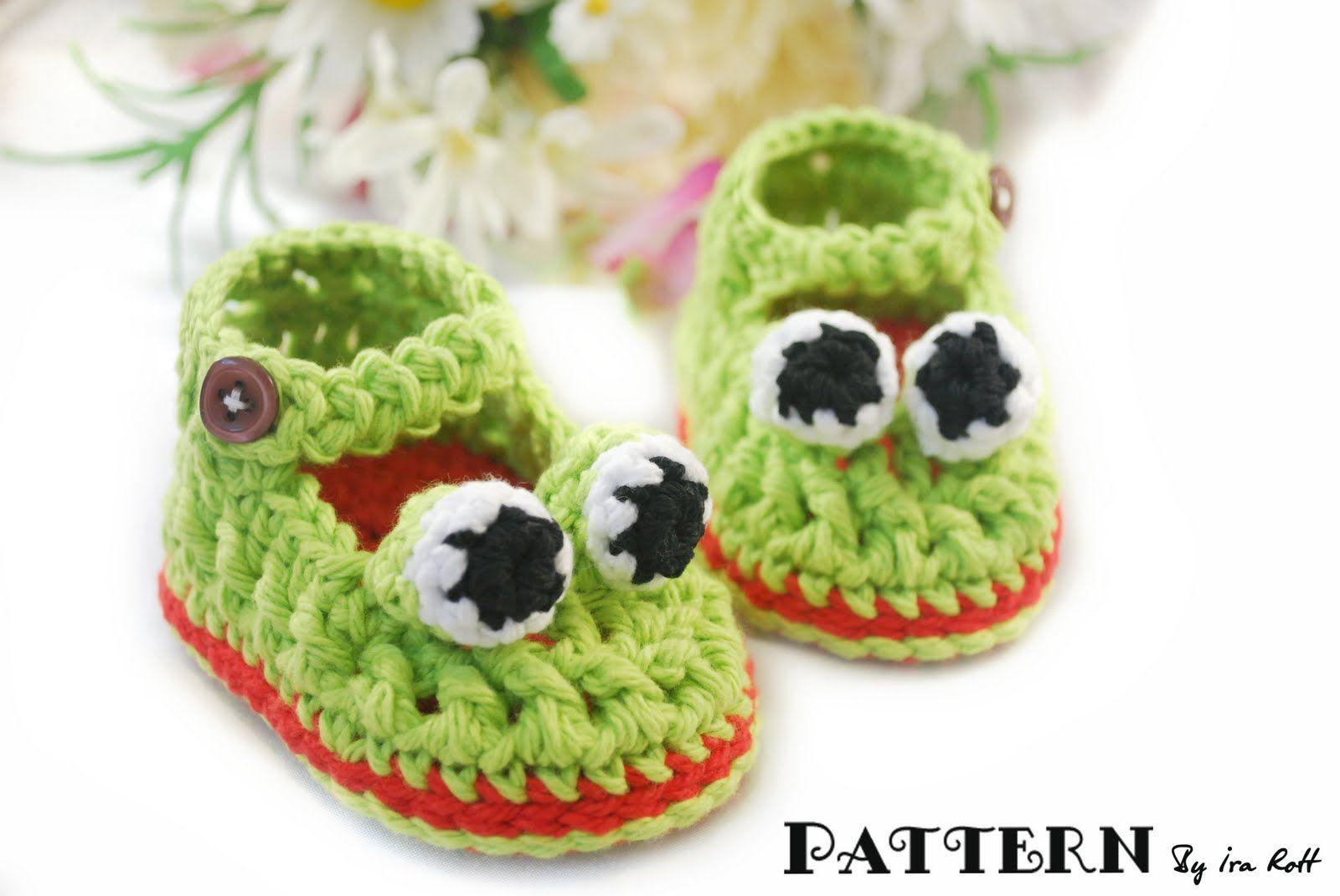 Crochet Froggy Booties!