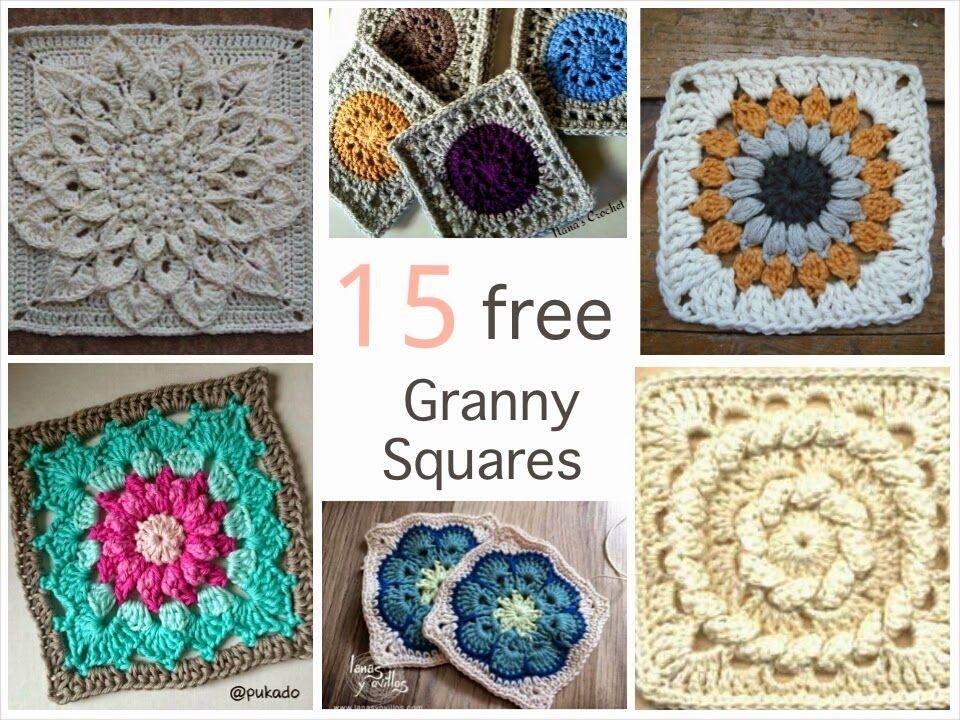 15 patrons granny square gratuits | grannys | Pinterest