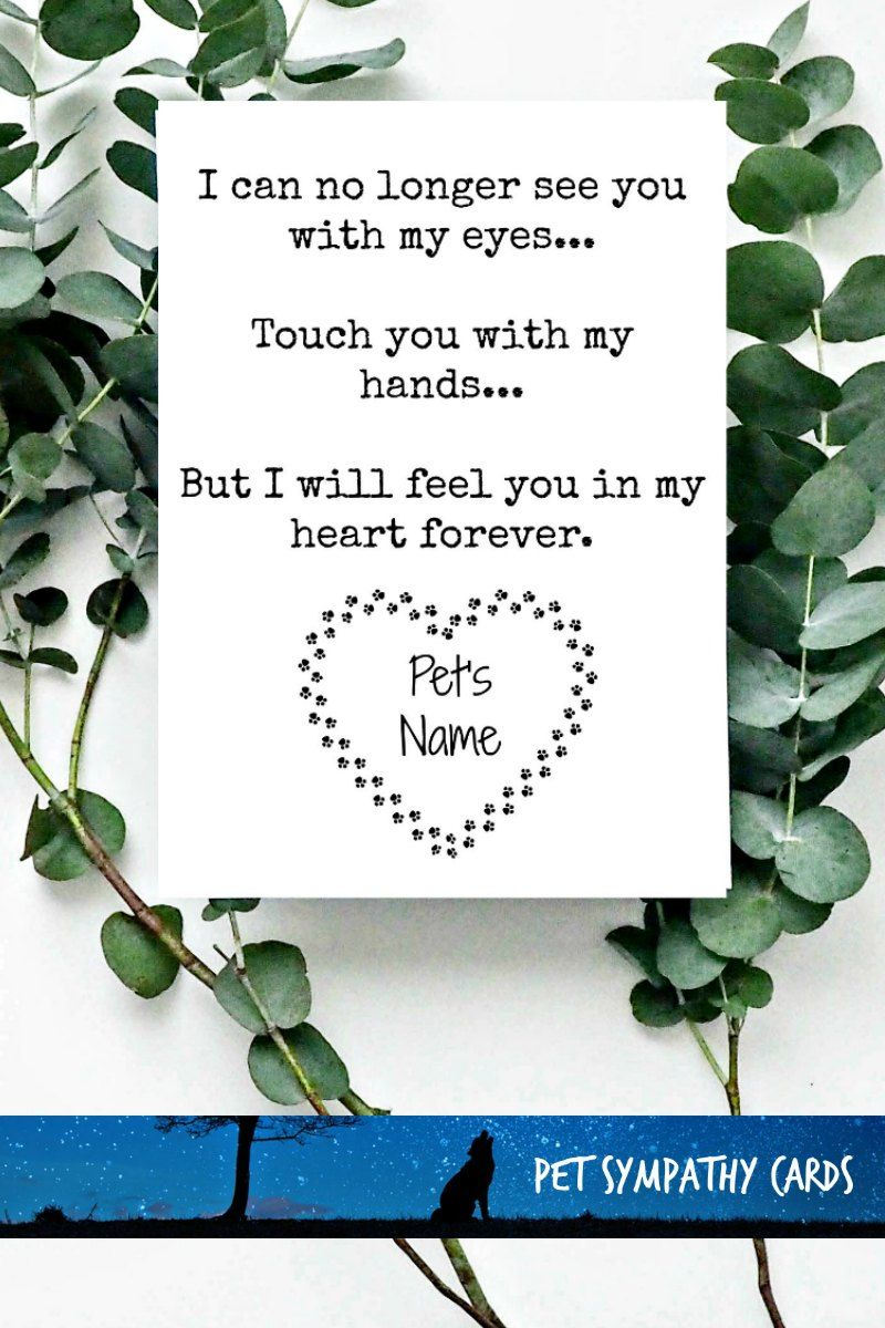 5x7 personalized loss of a pet quote comforting words for