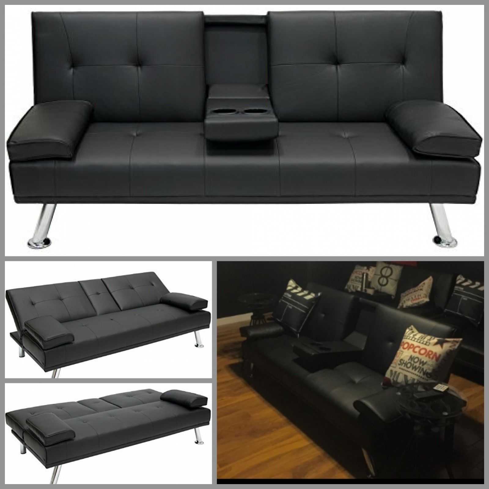 Futon Sofa Bed Sleeper Recliner Sofa Couch Fold Up Modern Furniture Black Leather Sleeper Sofa Futon Sofa Bed Reclining Sofa