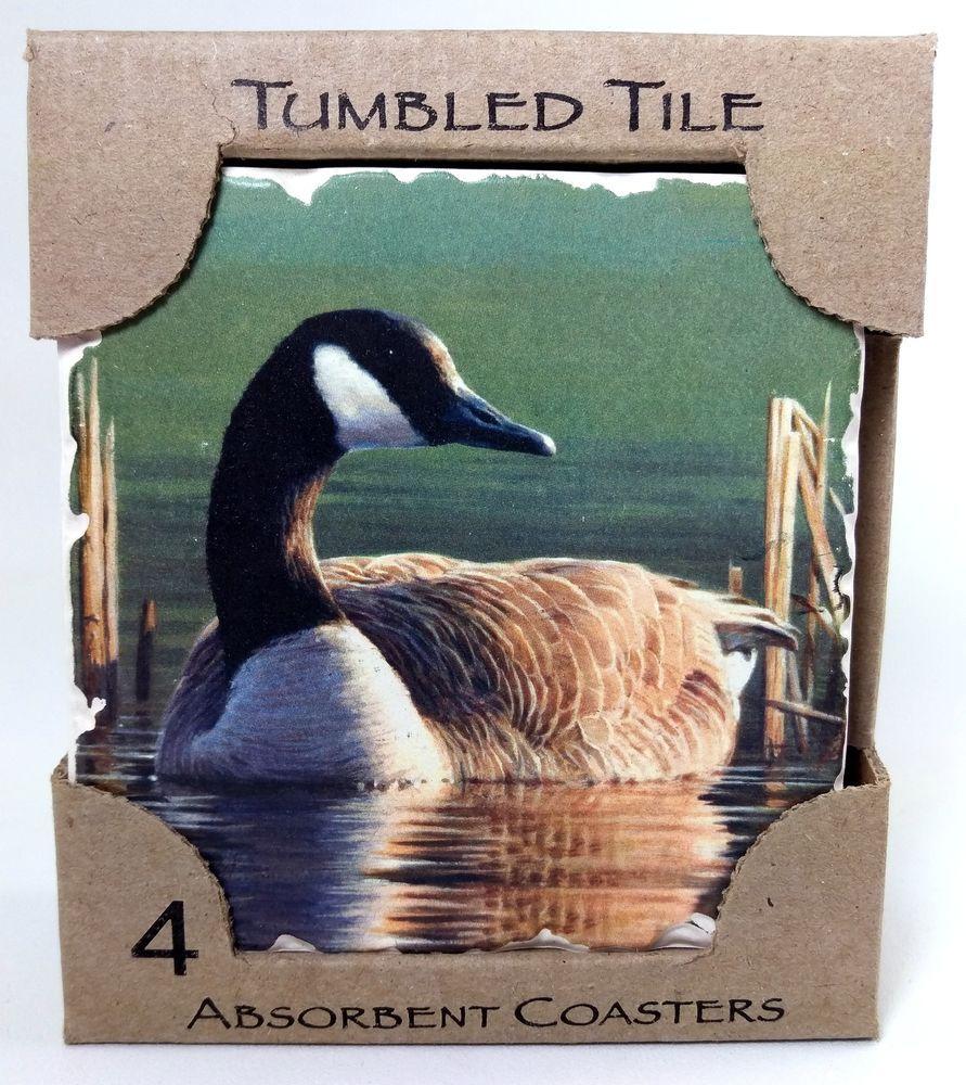 Canadian Goose Absorbent Coasters CounterArt 4 Set Bird