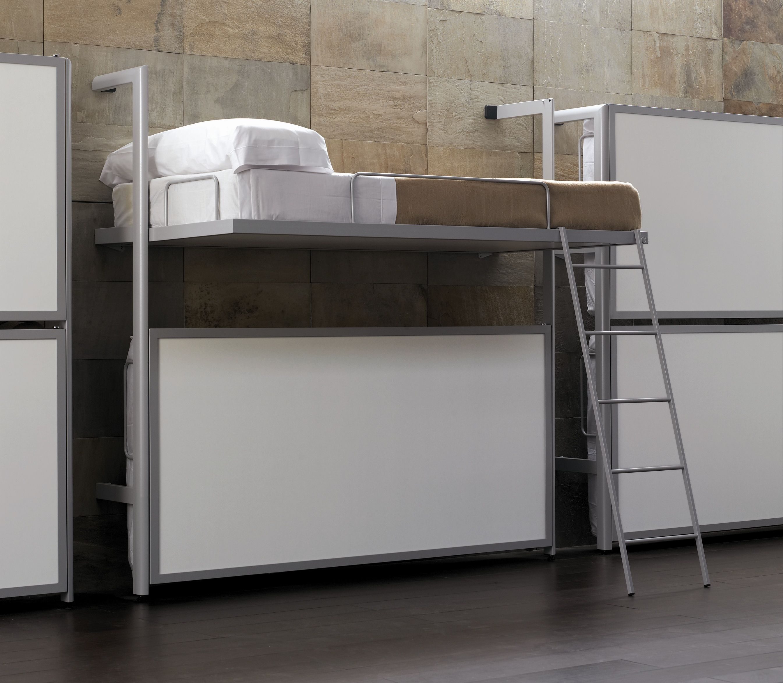 Loft bed with slide out desk  Akume akume on Pinterest