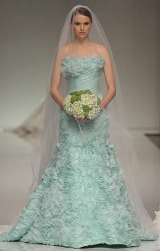 Romona Zeveza Gown/ quite an unusual color but it works beautifully ...
