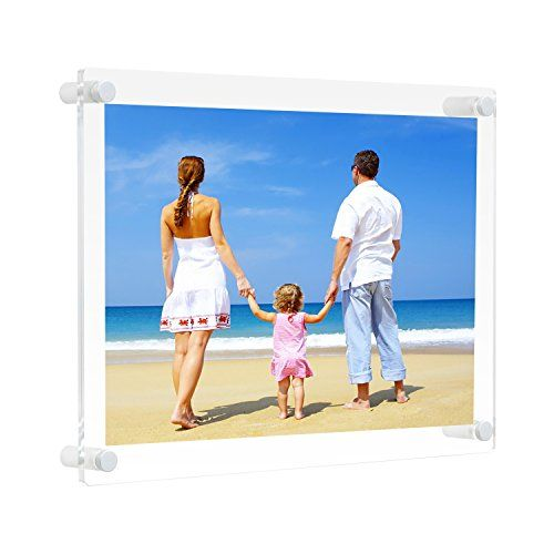 85x11 Clear Acrylic Wall Mount Floating Picture Frame A4 Letter Size
