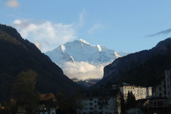 A view of Alpes from Interlaken, Switzerland