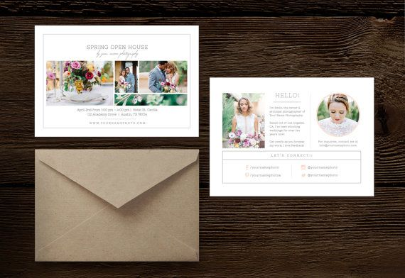 Photography Mini Session Template - Open House Flyer - Digital - open house templates