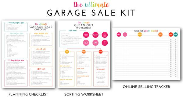 the ultimate garage sale prep kit a comprehensive printable kit