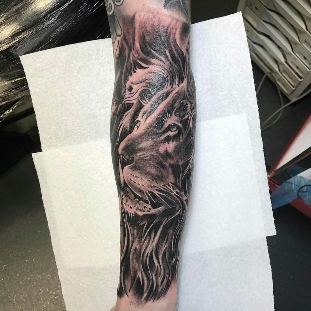 My new sleeve lion tattoos pinterest tattoo