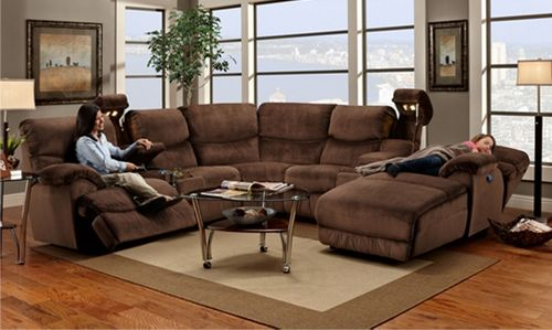 Rocky Sectional Reclining Sectional Sectional Sofa With