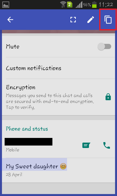 Copy Whatsapp Status On Android Mobile Application