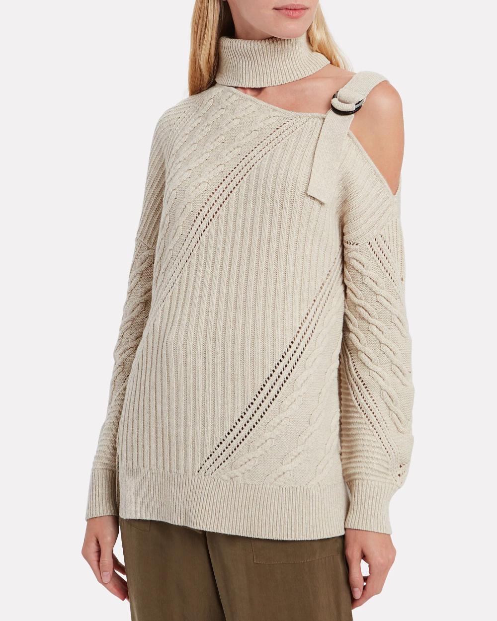 Strapped Merino Turtleneck Sweater