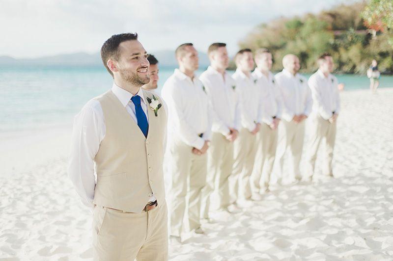 Beach Wedding Groom Suit More