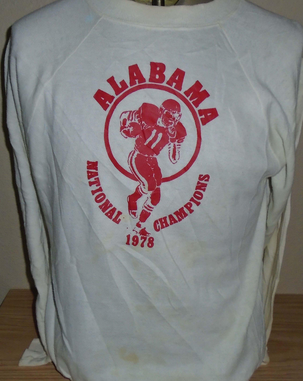 new concept e2689 d50a7 vintage 1978 Alabama Crimson Tide football sweatshirt Large ...