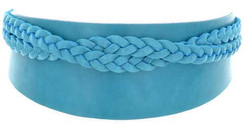 Leather Daisy Belt - Turquoise