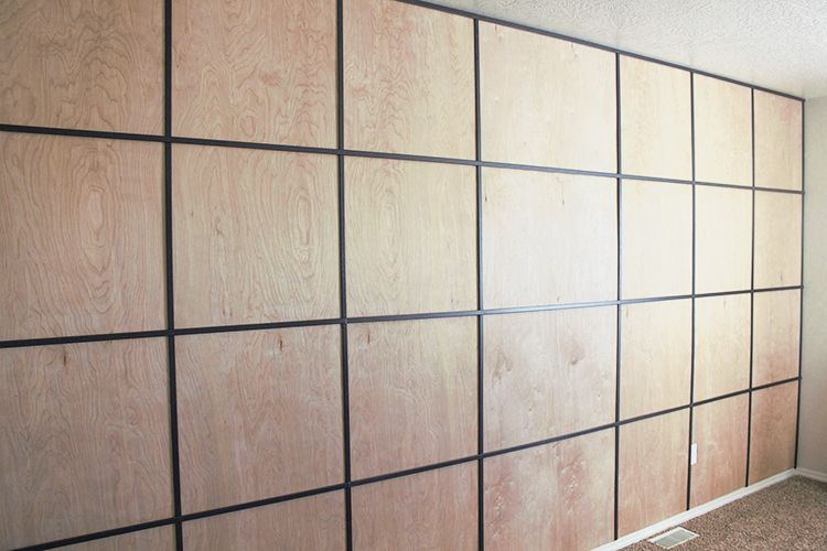 Easy Diy Plywood Panel Wall On A Budget Wall Paneling Diy Wood
