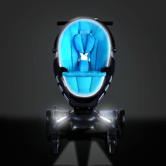 Teched Out 4moms Origami Baby Stroller. LCD Display, Phone Charger & Headlights!