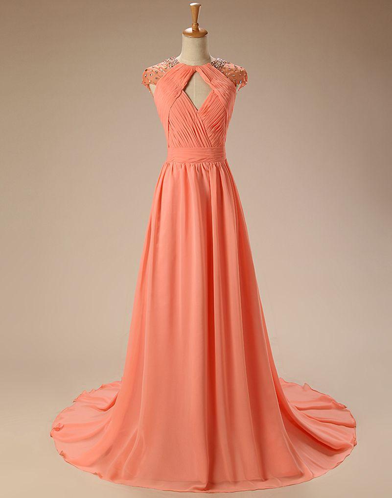 Vestido de festa elegant backless prom dresses cap sleeve beads