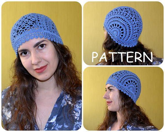 Crochet Summer Hat Pattern Pdf Unique Handmade Scheme For Lace