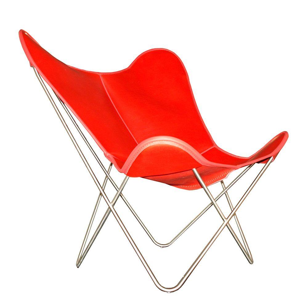 Hardoy Butterfly Chair ORIGINAL Leder Rot #design #ferrari #MadeinLeipzig  #interior #premiummaterials