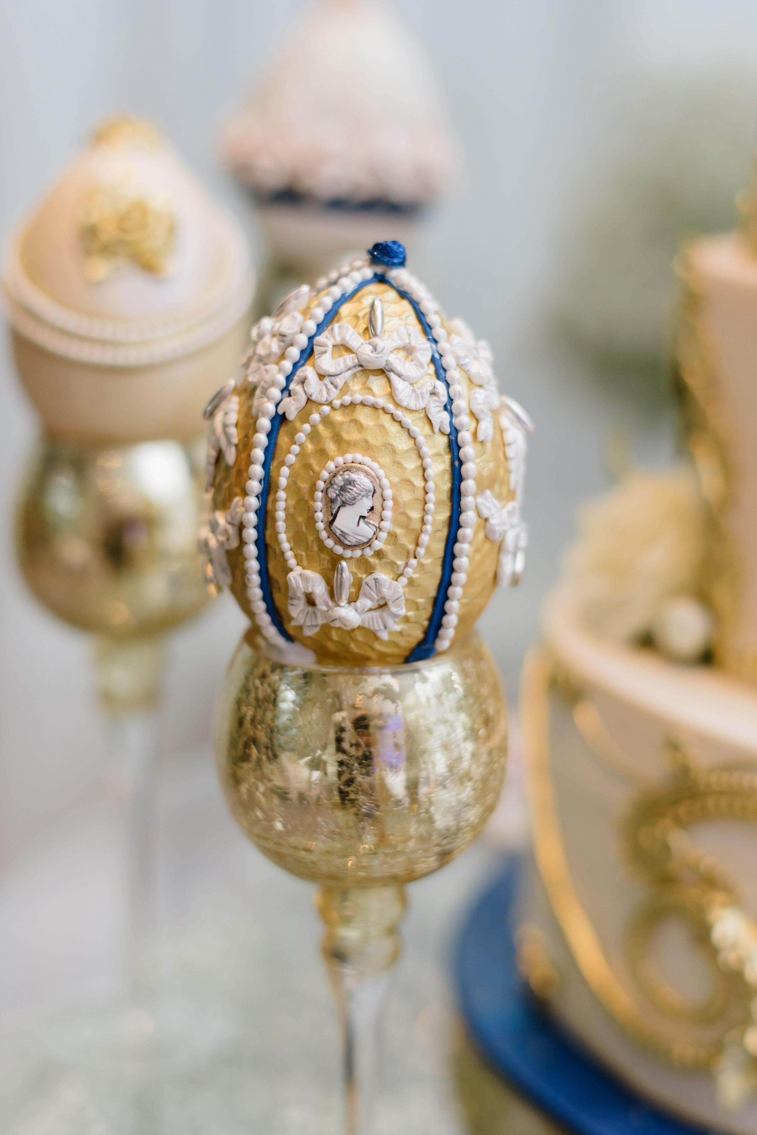 Faberge Egg. Wedding Cake, Royal Russia Theme.. Hand ...