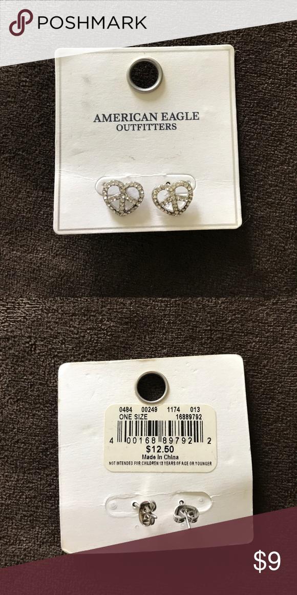 Download Earrings Heart peace sign earrings from American Eagle ...