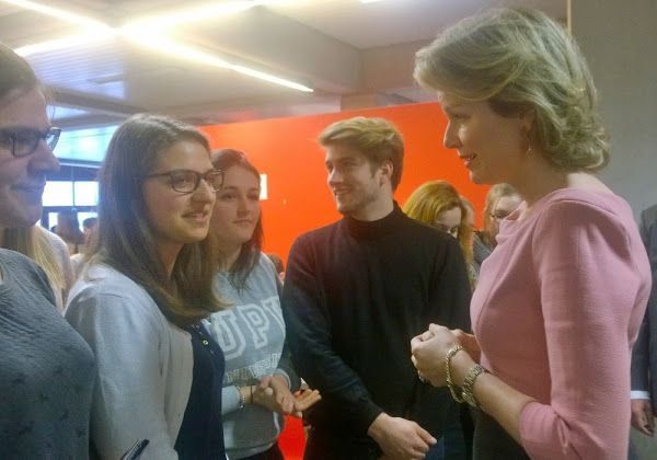 Queen Mathilde visited the University in Hasselt, Feb 23, 2016