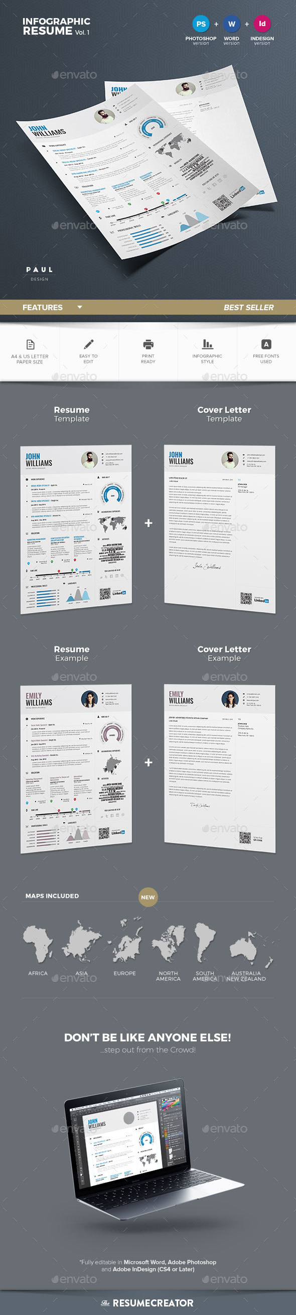 Infographic Resume Vol  Infographic Resume Infographic And Template