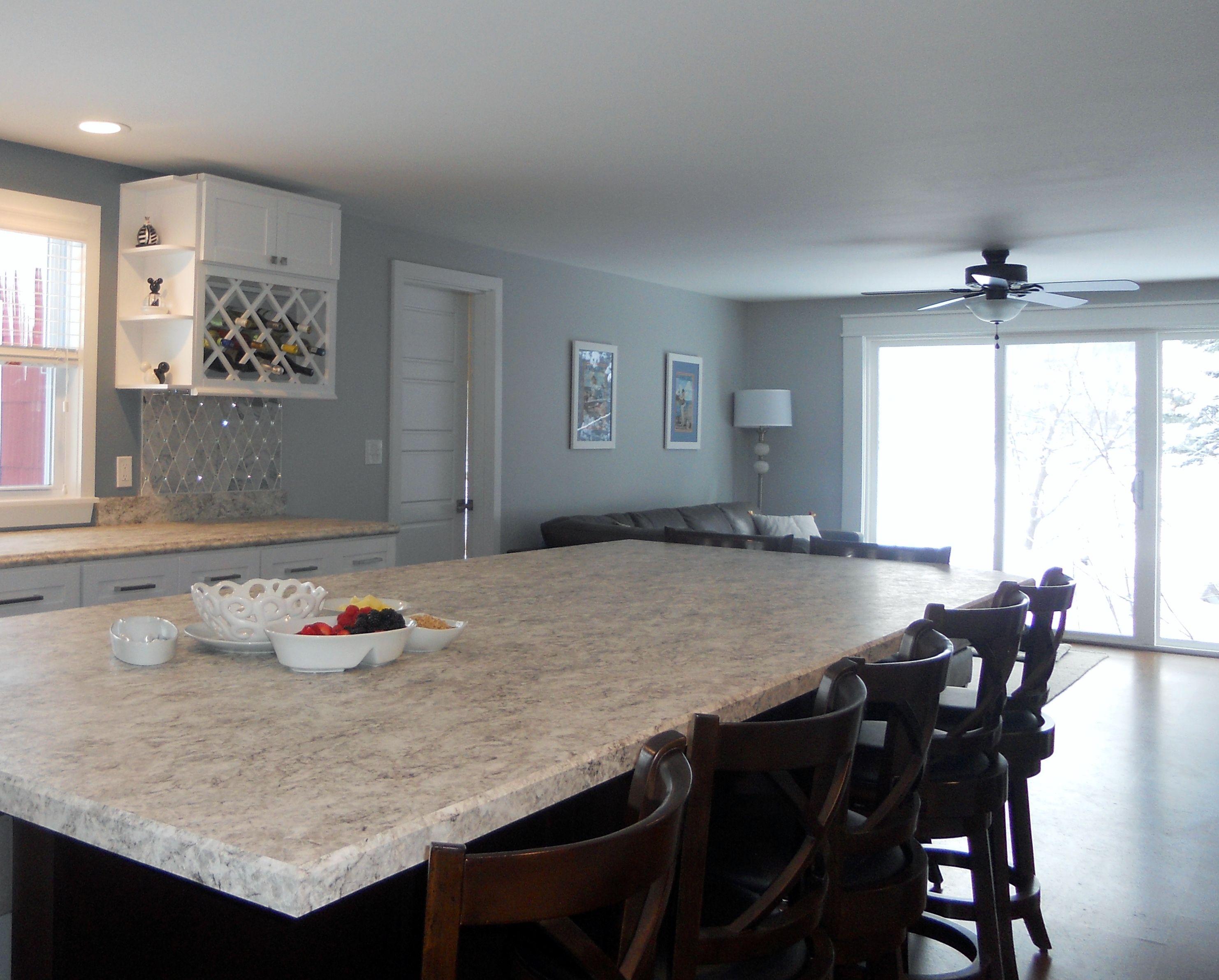 Jeff Lewis Kitchen kitchen, white shaker, #jefflewiscolor #gravel #skinnydip jeff