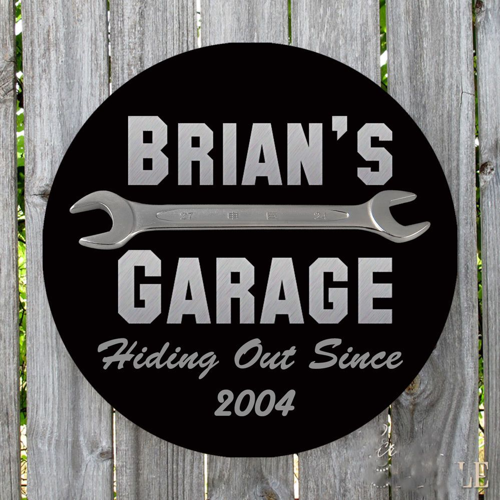 dog garage img sign signs custom personalized metal bad metalworks