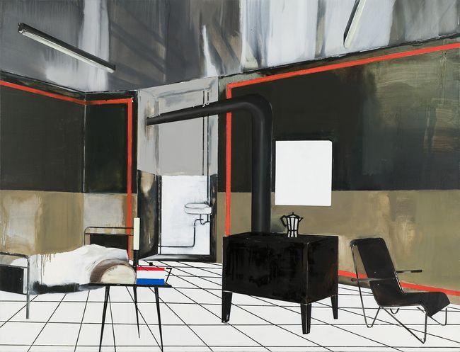 Farah Atassi Maids Room, 2009, huile sur toile
