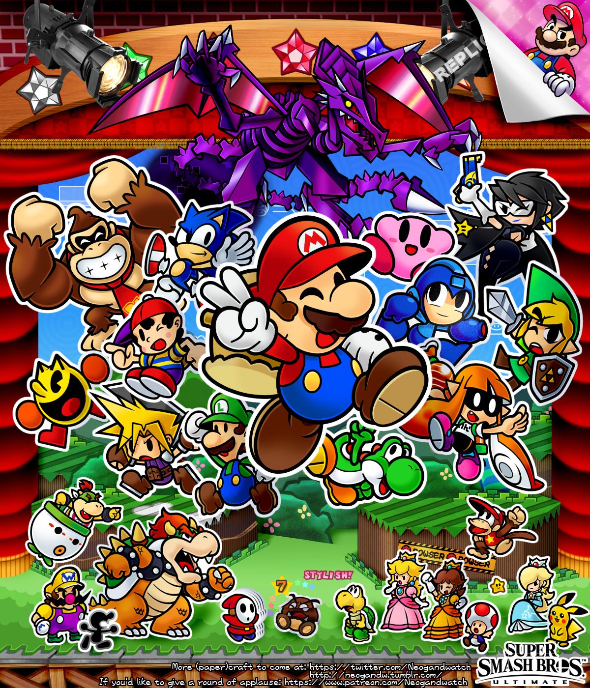 Super Paper Smash Bros  by neogandw | SmaSH BrOs | Super mario smash