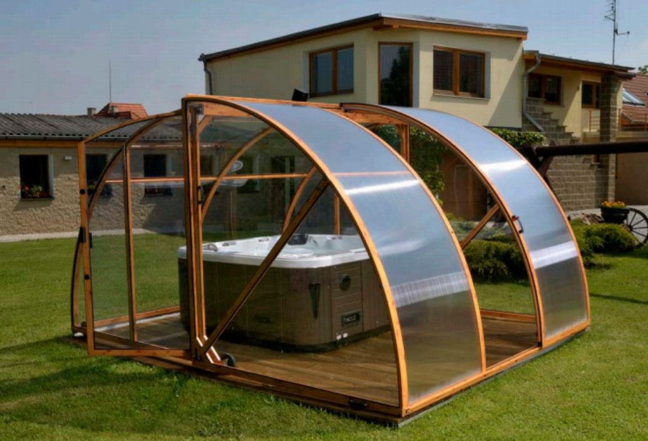 Outdoor Hot Tub Enclosure Ideas Hot Tubs Jacuzzis Tub