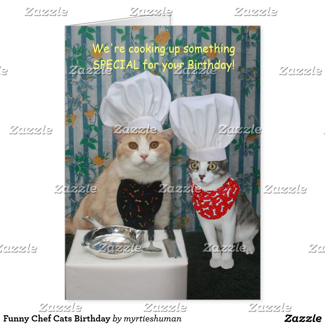 Create your own Card Zazzle.co.uk Cat birthday