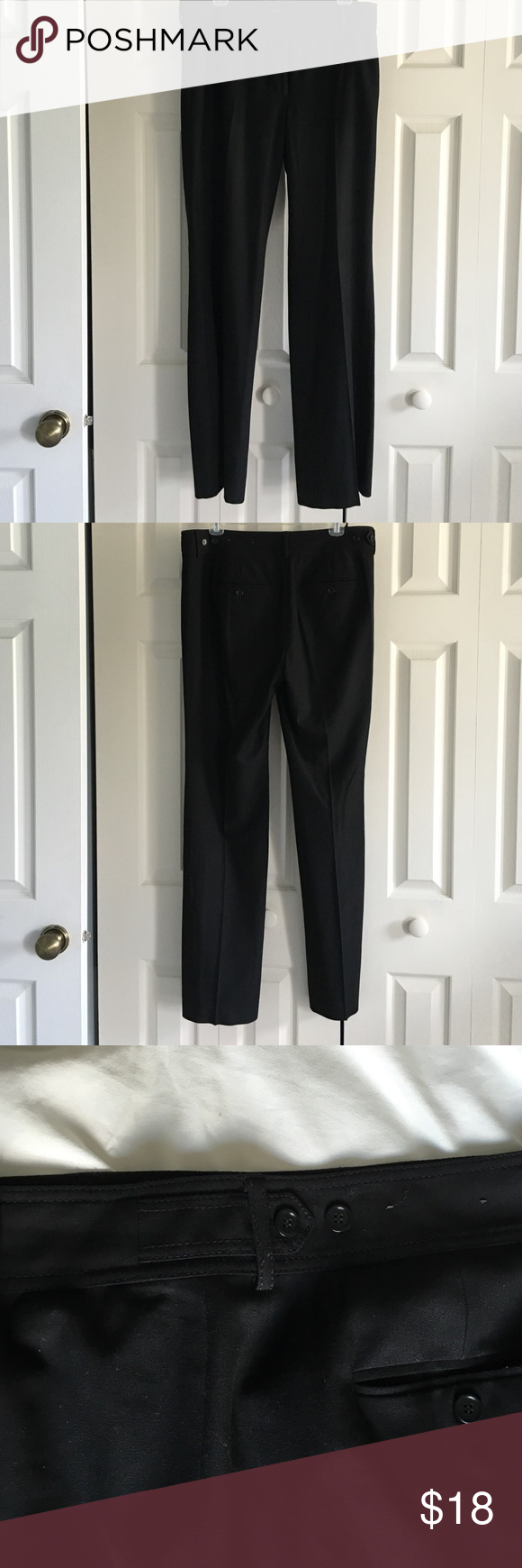 Ann Taylor Dress Pant Cute dress pants with button detail on waist band Ann Taylor Pants Trousers