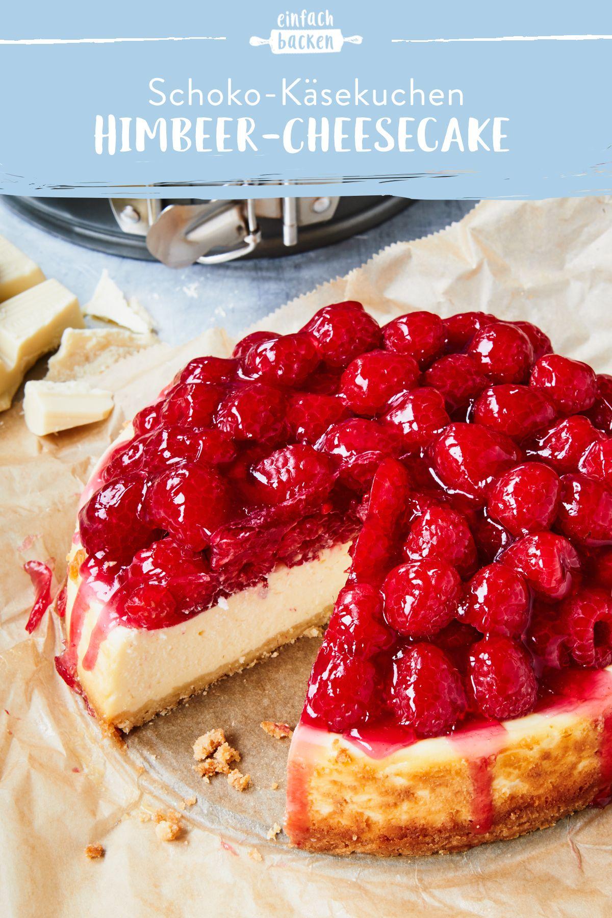 Himbeer-Cheesecake mit weißer Schokolade #whitechocolateraspberrycheesecake