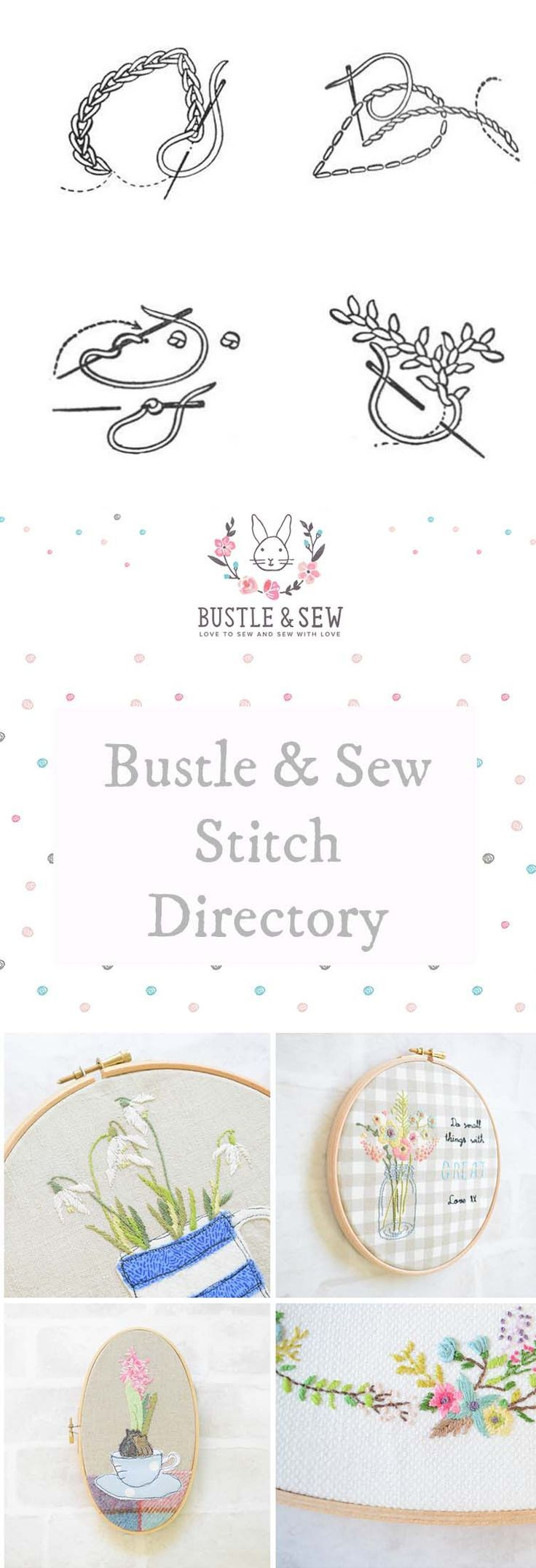 Bustle Sew Stitch Directory Includes Working Instructions For 16