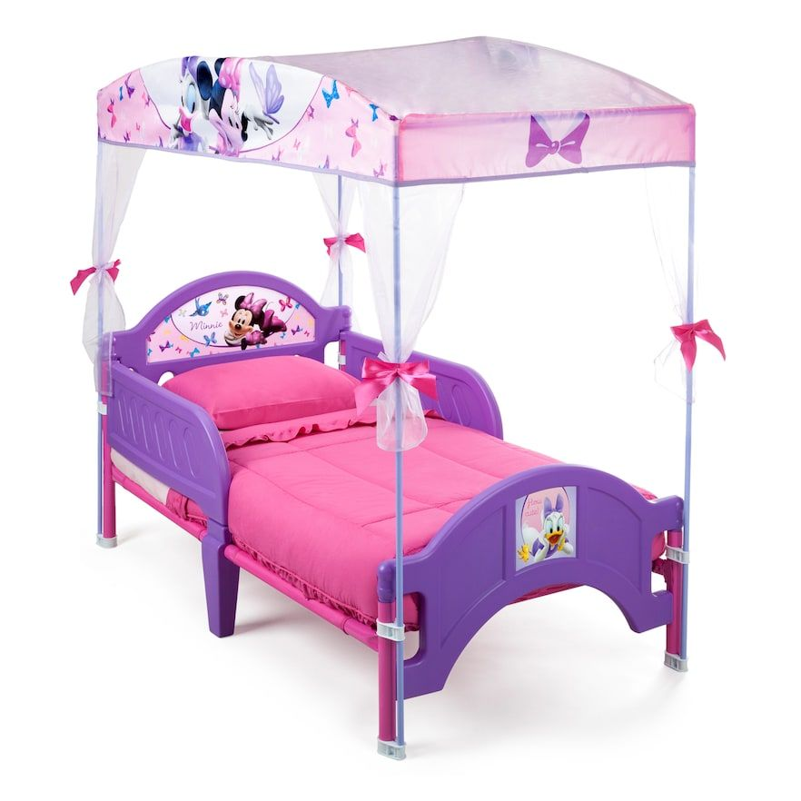 Delta Children Disney S Minnie Mouse Toddler Canopy Bed Pink