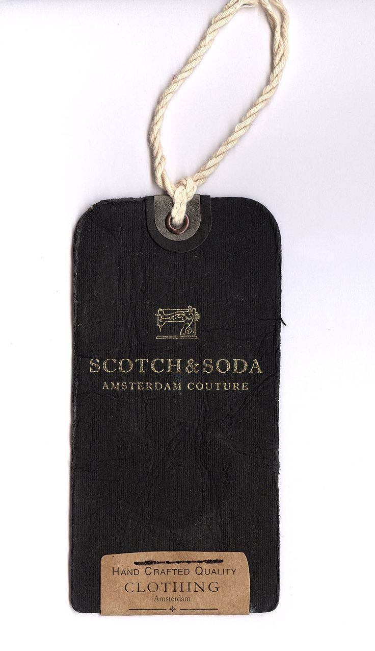 A PROPER TAG-- PERFECT FOR SLOW AND LOW I NTERM SOF QUALITY -- NO CRAP ELASTIC STRING ETC Scoth and Soda #hangtag