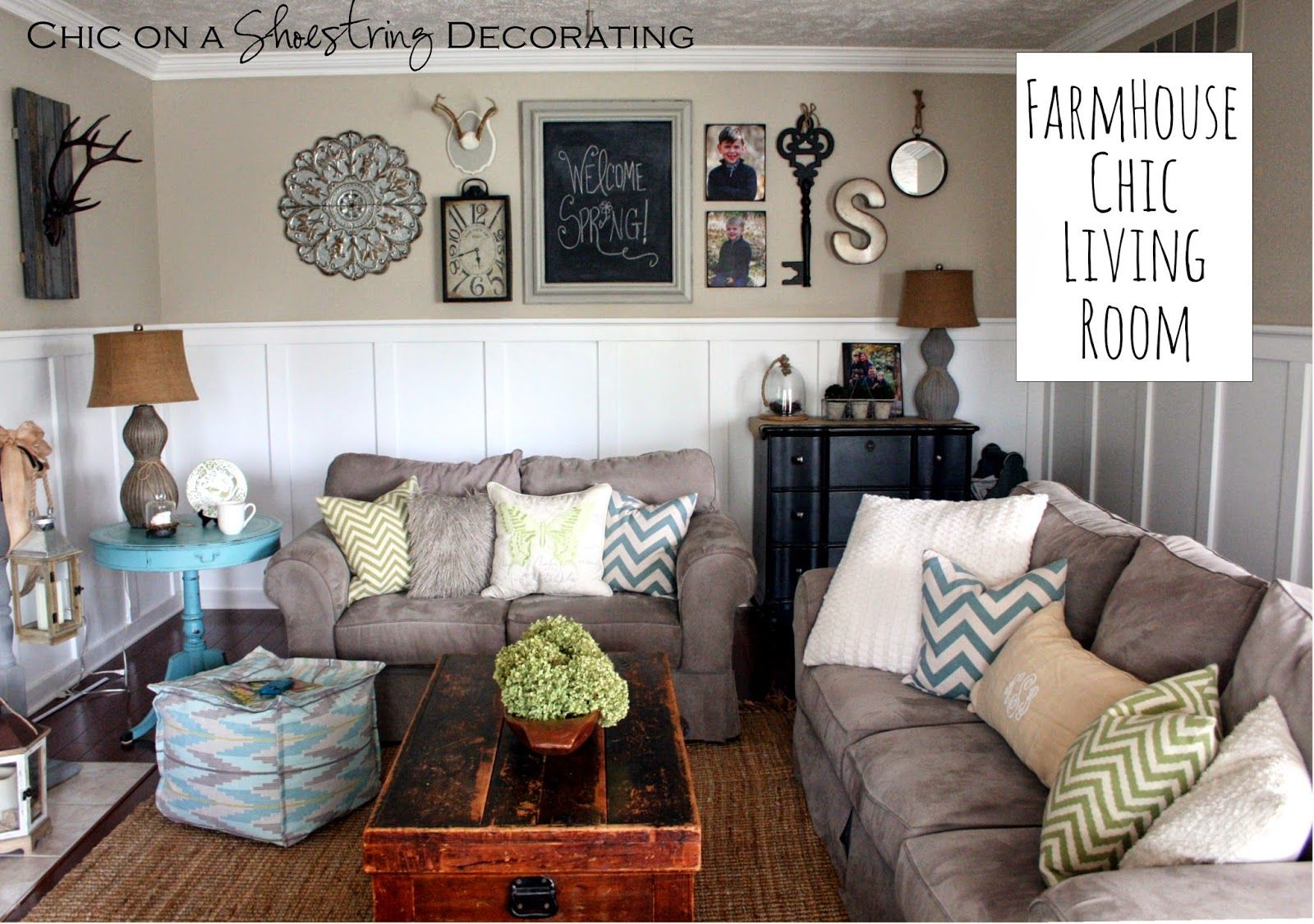 Best My Farmhouse Chic Living Room Love The Arrangement Over 400 x 300