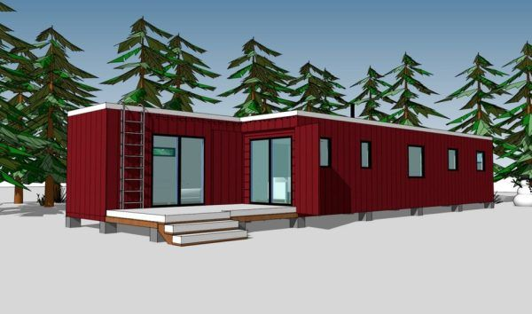 Complete, Free Plans For A 720 Sq. Ft. House, Built From Two
