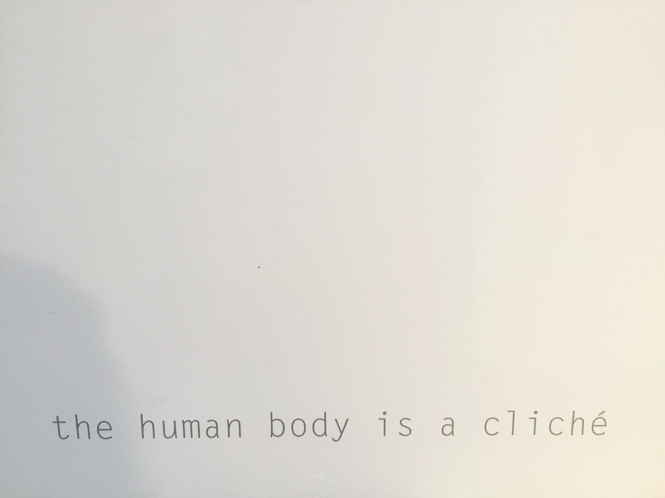 "Quote ""the human body is a cliché"". @Designhuis @Dutchdesignweek #ddw15 