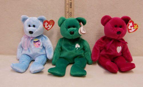 f05675df469 Rare   Retired Ty Beanie Babies Plush Bears